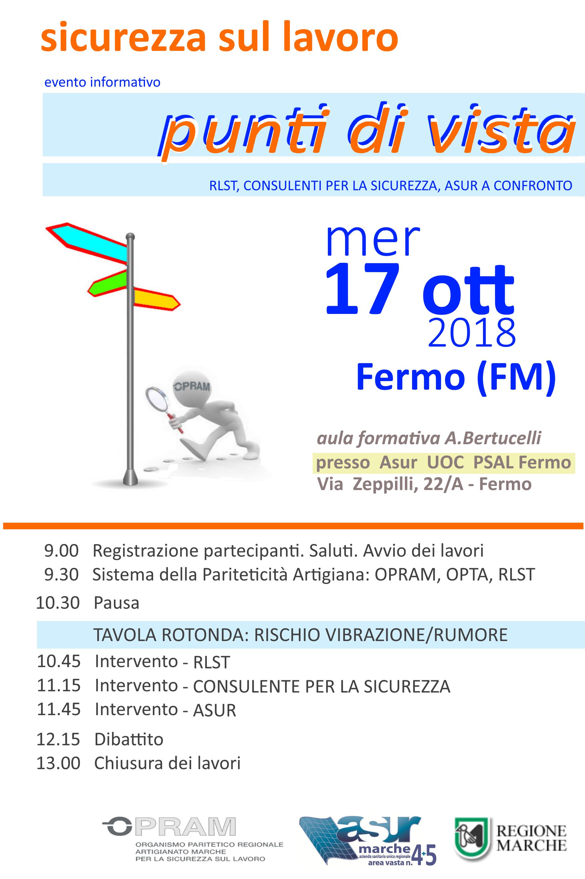 17/10/2018 – Fermo – evento informativo Punti di Vista
